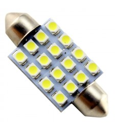 Bombilla C7W Led 16 Smd 39mm Matrícula Interior Techo Festoon Fusible