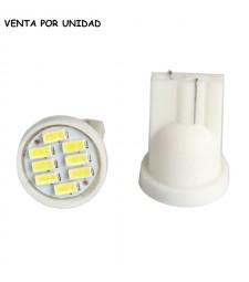 Bombilla T10 Led 8 Smd 1206 (3014) Cuña Luz Posición Oferta W5W T15 W16W