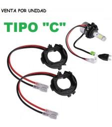 "Adaptador Soporte H7 Kit de Led y kit Xenon Volkswagen vw vag Tipo ""C"""