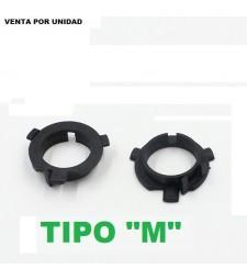 """Adaptador Soporte H7 Kit Led kit Xenon Kia Skoda Nissan Hyundai Tipo """"M"""""""