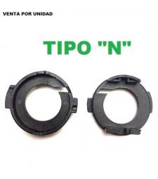 """Adaptador Soporte H7 Kit Led kit Xenon Kia Carens Rio Hyundai Tipo """"N"""""""
