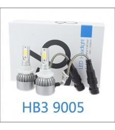 KIT DE 2 BOMBILLAS LED CERAMICA HB3 H10 9005 FOCO PRINCIPAL 7600 LUMENES