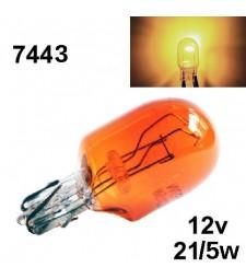 Bombilla Halógena T20 W21/5W 7443 580 Naranja Ámbar Intermitentes Coche
