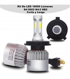 KIT H4 LED 16000 LUMENES 12/24V