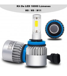 KIT LED COB H11 H9 H8 16000 LUMENES