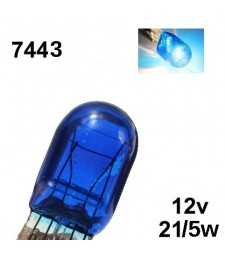 Bombilla Halógena T20 W21/5W 7443 580 8500K Efecto Xenon