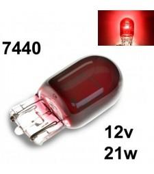Bombilla Halógena T20 582 7440 W21W Roja Rojo Posición Niebla coche