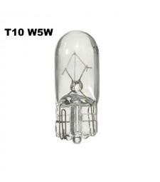 Bombilla Halógena T10 W5W Cristal Luz Coche de Cuña Posición Clásica