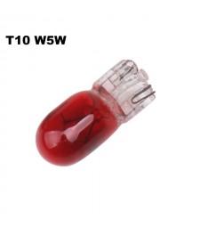 Bombilla T10 W5W W3W Halógena Roja Posición Freno Interior Cuadro 12v