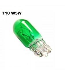 Bombilla T10 W5W W3W Halógena Verde Interior Tablero Cuadro Coche