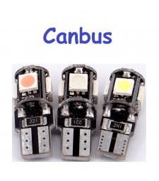 Bombilla T10 Led 5 Smd Canbus No error Luz Posición Matrícula W5W