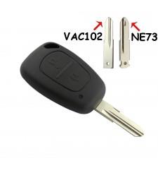 Carcasa Llave Renault Nissan Dacia Opel 2 Boton NE73 y VAC102 Ref. 124