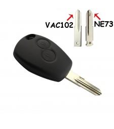 Carcasa Llave Renault y Dacia 2 Boton NE73 y VAC102 2004 - 2010 Ref 125