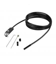 Cámara 5,5MM Endoscópica cable 10M Tubería Bajante Atasco Endoscópio USB