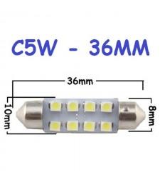 Bombilla 36mm C5W 8 Led Luz de Cortesía lectura Festoon Tipo Fusible