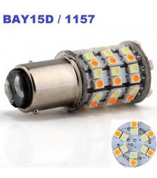 Bombilla Led BAY15D S25 P21/5W 1157 2 polos Ámbar y Blanco 60 Led