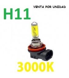 BOMBILLA HALOGENA H11 3000K AMARILLA